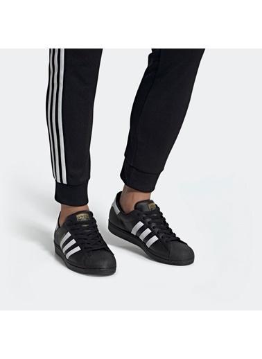 adidas Erkek Superstar Sneakers EG4959 Siyah
